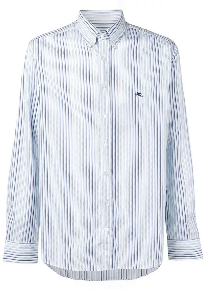 Etro striped button down shirt