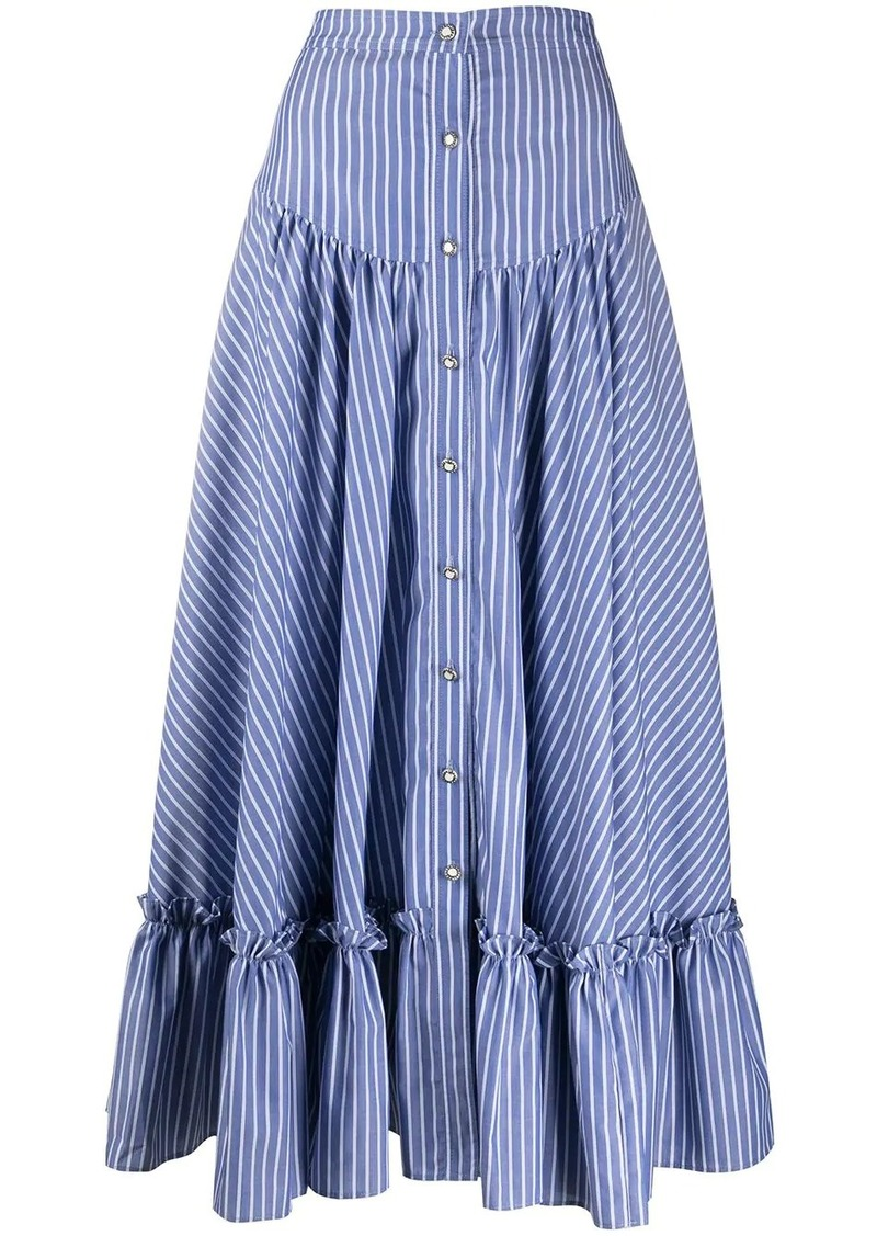 Etro striped button-up skirt