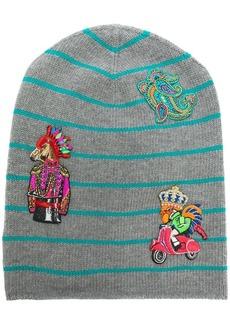 Etro striped embroidered beanie