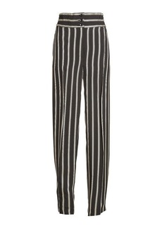 Etro Striped High Waist Pants