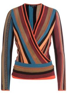 Etro Striped Knit Wrap Top