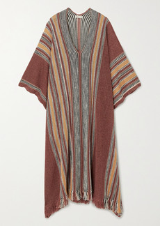 Etro Striped Linen-blend Poncho