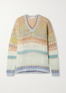 Etro Striped Open-knit Wool-blend Sweater