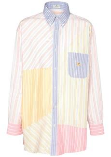 Etro Striped Patchwork Cotton Poplin Shirt