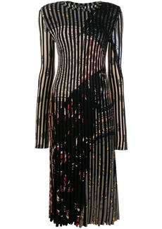 Etro striped pleated dress