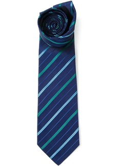 Etro striped pointed tip tie