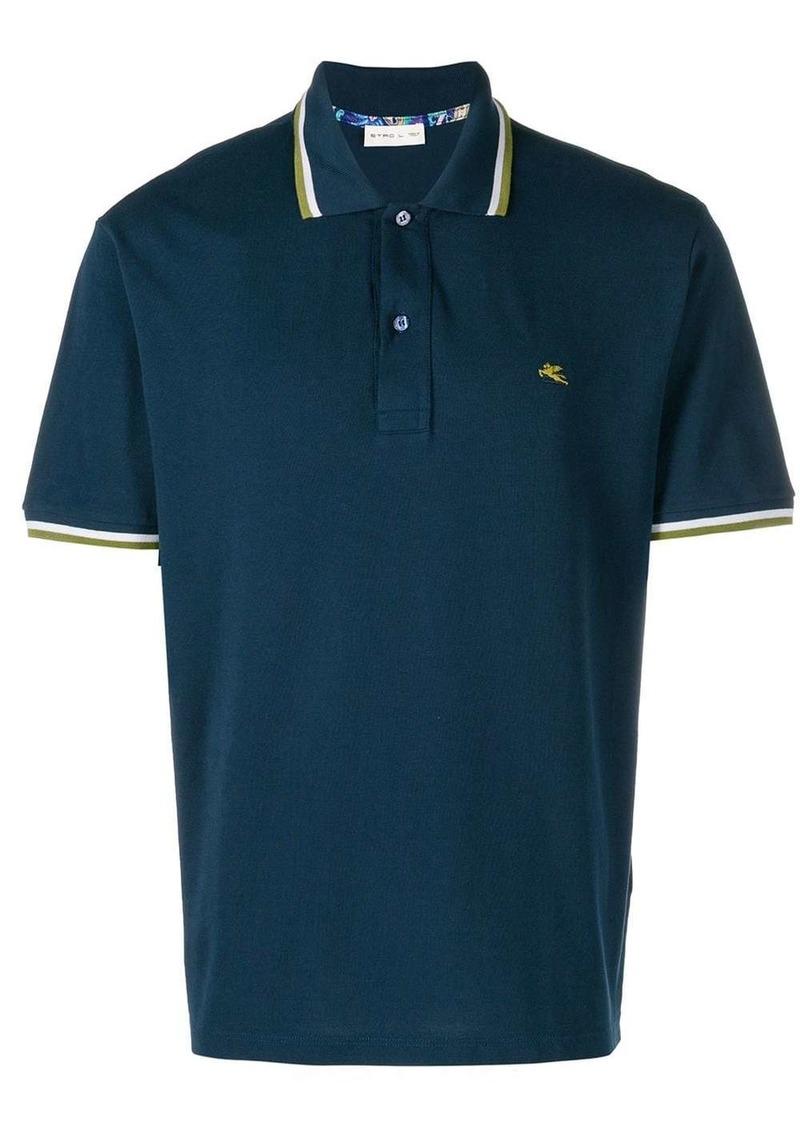 Etro striped trim polo shirt