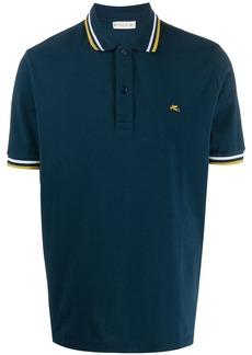 Etro striped-trim polo shirt