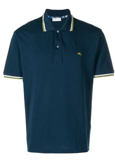 Etro striped trim polo shirt