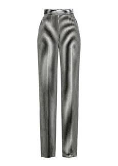 Etro Striped Velvet High-Waist Pants