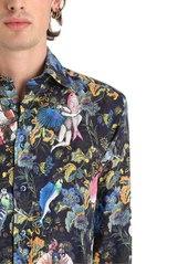 Etro Surreal Printed Fluid Linen Shirt