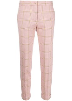 Etro tailored checked pattern trousers