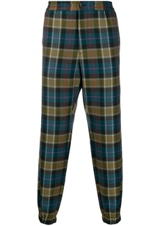 Etro tapered checked pattern trousers