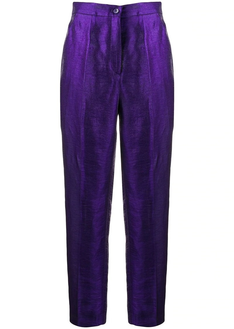 Etro tapered leg iridescent trousers