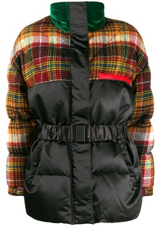Etro tartan duck down puffer jacket