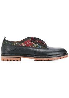 Etro tartan panel shoes
