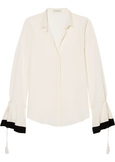 Etro Tassel-trimmed silk-georgette blouse