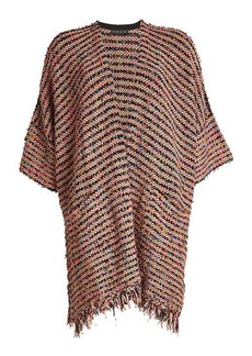 Etro Textured Cape with Wool