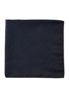 Etro Tonal Paisley Silk Pocket Square