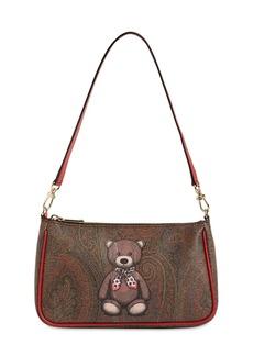 Etro Toy Print Pvc Baguette Bag
