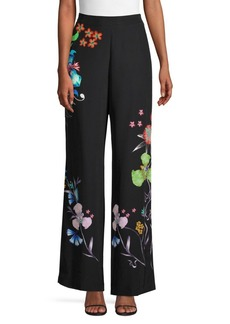 Etro Tropical Floral Wide-Leg Pants