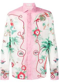 Etro tropical print shirt