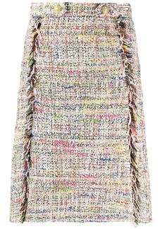 Etro tweed A-line skirt