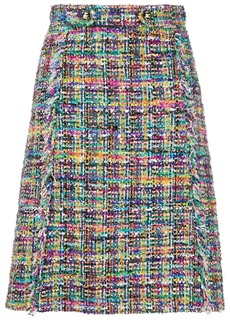 Etro tweed A-line skirt
