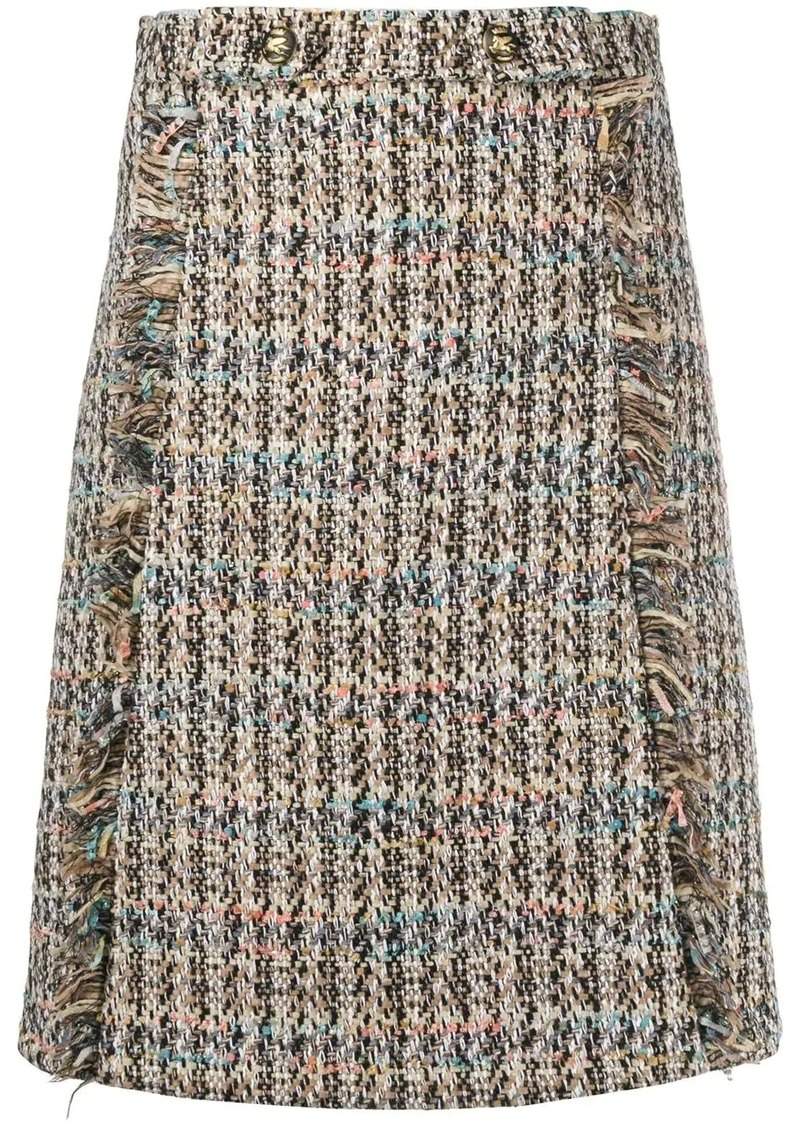 Etro tweed straight skirt