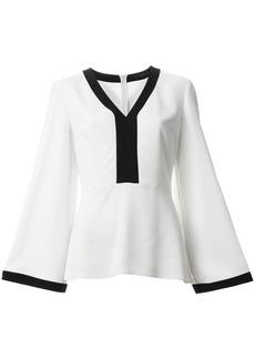 Etro contrast V-neck blouse