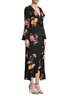 Etro V-Neck Floral Silk Midi Dress