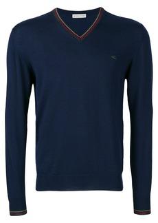 Etro v-neck logo sweater