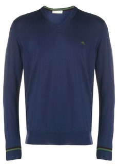 Etro v-neck logo sweatshirt