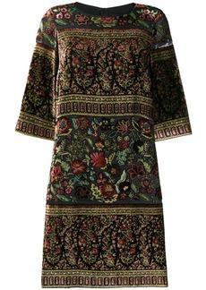 Etro velour appliqué dress
