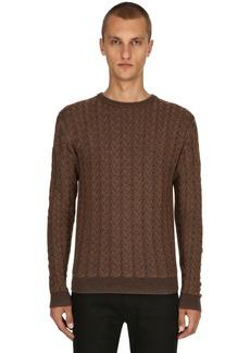 Etro Waved Wool Jacquard Sweater