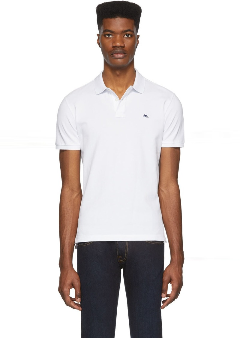 Etro White Logo Polo