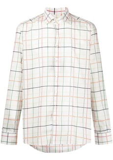 Etro wide check shirt
