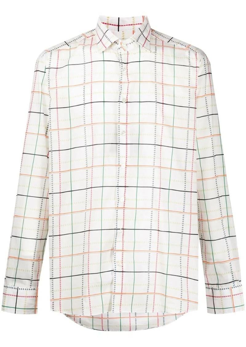 Etro wide check shirt