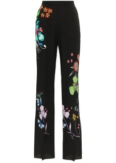 Etro wide leg floral print trousers