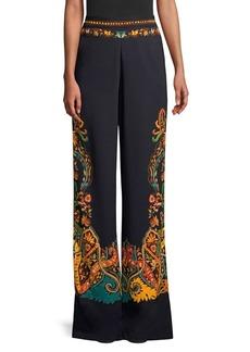 Etro Wide Leg Paisely Print Pants