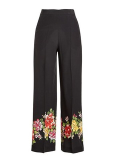 Etro Wide Leg Silk Pants with Print