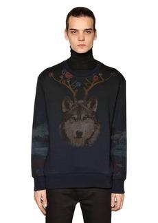 Etro Wolf & Bear Printed Cotton Sweatshirt