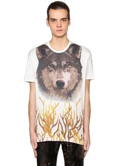 Etro Wolf Printed Cotton Jersey T-shirt