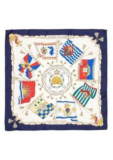 Women's Etro Jodhpur Nautical Flag Print Silk Twill Scarf