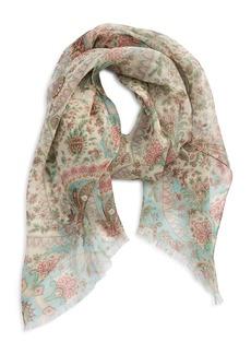 Women's Etro Paisley Print Silk Scarf