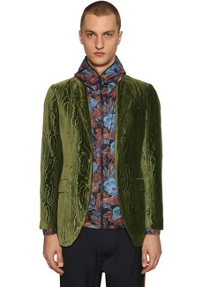 Etro Wood Motif Techno Velvet Jacket