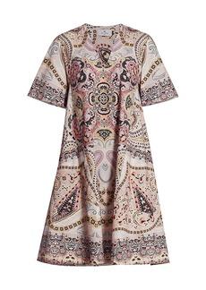 Etro Woodstock Paisley Cotton A-Line Dress