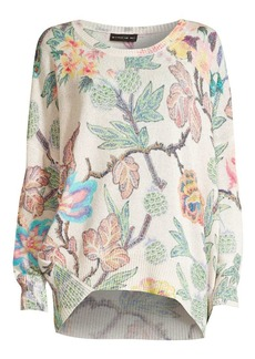 Etro Wool & Cashmere Blend Floral Knit Sweater