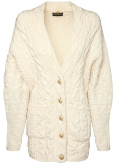 Etro Wool & Cashmere Cable Knit Cardigan