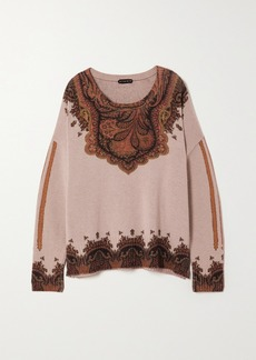 Etro Wool And Cashmere-blend Jacquard Sweater